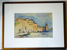 Jacques VAILLANT (1879-1934) -- France - WC- Harbour scene