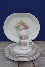 Corelle Corning Mirage Southwestern Design Pastel Oval Serving Platter Cup Plate