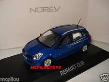 NOREV RENAULT CLIO ESTATE 2007 BLEU EXTREME  au 1/43 °