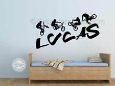 Bicicleta BMX Pegatinas Personalizados chicos chicas habitación Pared Arte Gráfico Calcomanías