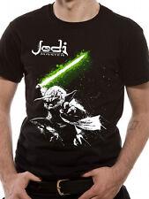 Official T Shirt STAR WARS- YODA JEDI MASTER Size S Black Mens Licensed Merch