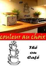 2 stickers autocollant adhesif cuisine thé tasse à café frigo