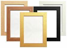 Modern Flat Wide Picture Photo Frame Poster Frame BLACK OAK DARK OAK WHITE GOLD