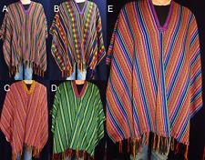 traditioneller Poncho Ponchos Karneval bunt Überwurf Fasching INKA MAYA UNISEX