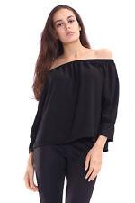 K01 New Women's Off Shoulder Chiffon Tee Shirt Blouse Top In Plus Size 08-26