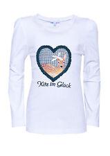 """%% LOUIS & LOUISA """" Kitz im Glück """" Shirt Rehkitz weiss/grün Gr.92 - 164 NEU %%"""