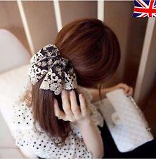 Handmade large dentelle coiffure ruban noeud barrettes pinces à cheveux pince à cheveux accessoires
