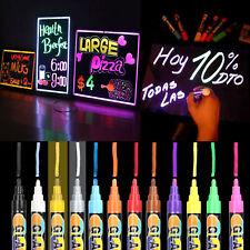 12Color Highlighter Fluorescent Liquid Chalk Marker Pen Erasable For LED Writing