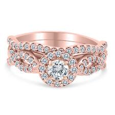 1.10ctw Diamond Infinity Bridal Set in 10k  Rose Gold