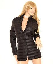 PIUMINO NERO donna cappotto imbottito giubbotto giaccone cappottino куртка 70