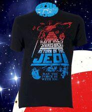 New Star Wars Return of the Jedi Empire Strikes Back Mens Retro Classic T-Shirt