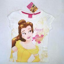 DISNEY t-shirt BELLE princesse 3 4 5 ou 6 ans LA BELLE ET LA BETE blanc  NEUF