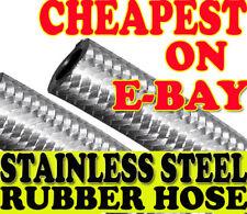 """1/2 """" (12mm) acciaio inox intrecciato gomma nitrile FLESSIBILE TUBO CARBURANTE"""