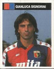 [AA] FIGURINA CAMPIONI & CAMPIONATO 1990/91-GENOA-SIGNORINI
