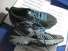 NEW NIB ASICS LADY GEL-ENDURO 7 Trail Running Shoes Onyx/Black/Blue T1G5Q 9090