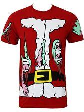 Cosmic Zombie Santa Skeleton Gothic Christmas Costume Short Sleeved Tshirt Top