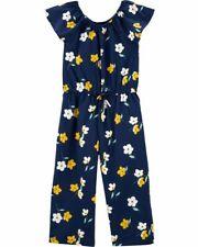 Nwt Carter's Flutter Floral Jumpsuit Girl Navy Blue Many sizes