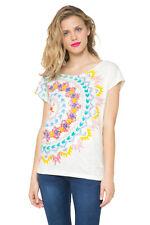 DESIGUAL women's SIGNATURE Mandala Anders T-Shirt Haut S-XXL Royaume-Uni 10-18 RRP 44