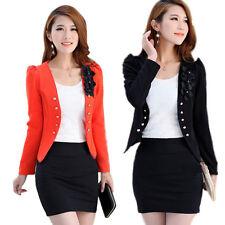 New Women Fashion Candy Color Fashion Korean Solid Slim Suit Blazer Coat Jacket