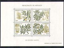 MONACO 1988 oliva/fiori/Fruit/ALBERI/PIANTE/NATURA/stagioni 4v M/S (n36646)