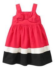 NWT Gymboree Bonjour Bright Bow Colorblock Dress 12 18 24mo 2T 3T 4T 5T TWIN
