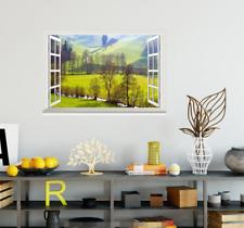 3D Green Field 560 Open Windows WallPaper Murals Wall Print Decal Deco AJ Summer