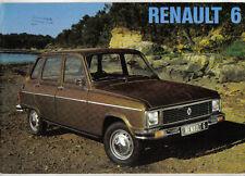 Renault 6 850 & TL 1974-75 Original UK Sales Brochure