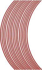 3mm Rueda Llanta Cinta Rayas Rayas Pegatinas Rojo.. (38 piezas/9 por rueda)