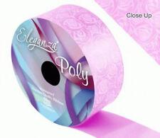 Light Pink Rose Printed Florist Poly Ribbon  - wedding cars,bows,presents