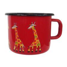 SMALTO Mug tazza di caffè Tazza, D 9cm, 05 L, delle giraffe, vari colori NUOVO