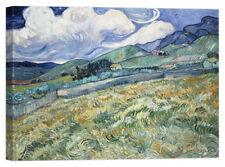 Quadro Stampa su Tela Vernice Effetto Pennellate Van Gogh Les Vessenots à Auvers