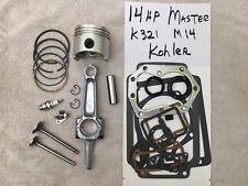 For Kohler K321 engine a 14hp Master rebuild kit complete w/free tune up, valves