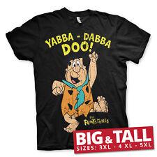 Con Licencia Oficial De Los Picapiedras-Yabba-Dabba-Doo 3XL, 4XL, 5XL para hombre Camiseta