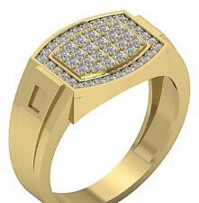 Men's Engagement Wedding Ring Round Diamond I1 G 0.80 Ct White Yellow Rose Gold