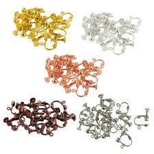 12Pcs Clip On Screw Back Earring Findings Open Loop Ball Jewelry Making DIY
