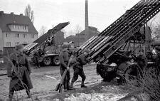 B&W WWII Photo Russian Katyusha Rocket Launcher  WW2