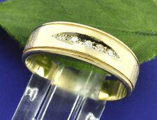 ANTIQUE VINTAGE 0.04 ct  ladie's DIAMOND BAND RING 14K LOW PRICE 4.2 GRAMS
