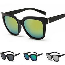 donna moda rétro UV400 a specchio Lenti occhiali da sole vista tonalità