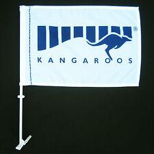 AFL NORTH MELBOURNE KANGAROOS Flag Small car flag 45cm x 30cm Official  - NEW!