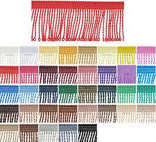 Fransenborte 6cm 8cm 12cm Breite Farbvielfalt Fransen 1m 5m 25m Deko Vorhang