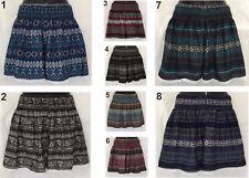 LADIES SHORTS Printed Design Women's Sizes 10 12 14 16 18 20 22 Plus Lace Trim