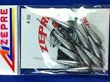 10 Torpille calibrate Zepre varie misure pesca trota, agonismo, bolognese, mare