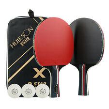 Pro Table Tennis Racket Ping-pong Bats Rubber Racquet 3 Ball Bag Set Kit Eyeful