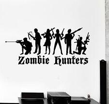 Vinyl Wall Decal Zombie Hunter Boy Teenage Decor Stickers Murals (ig4848)
