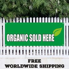 Banner Vinyl ORGANIC SOLD HERE Advertising Sign Flag Food Produce Farm Market