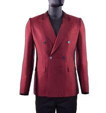 DOLCE & GABBANA RUNWAY Zweireihiger Sommer Blazer Sakko Seide Rot Jacket 05267