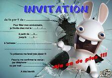5 ou 12 cartes invitation anniversaire lapin  réf 261