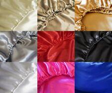 Spann-Bettlaken Satin Polyestersatin Größe 90x190 90x200 cm 100x200 cm 9 Farben