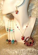 Murano Glass Necklace - Real Italian Made Murano Glass - Fiesta Gift Boxed