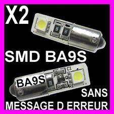 AMPOULE VEILLEUSE BLANCHE 2 LED 5W T4W BA9S SMD CULOT ROND XENON FEU DE POSITION
